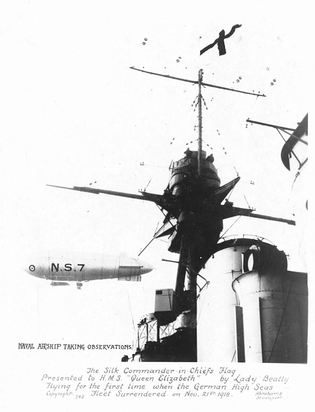 NS7 on patrol above HMS Princess Elizabeth