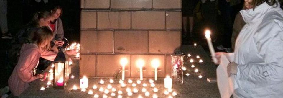 Candlelit Vigil at Memorial